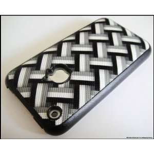 Black Fashion Laces Hard Back Cover Case for iPhone 3G 2G