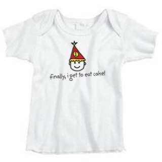 Hello Baby Short Sleeved Boys First Birthday T Shirt: Clothing