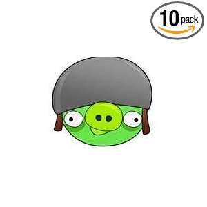 Angry Birds helmet Pig Temporary Tattoos (Pack of 10