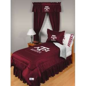 Texas A&M Aggies Locker Room Comforter   Full/Queen