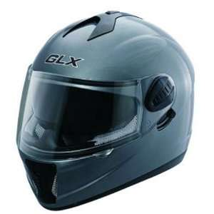 Motorcycle Helmet Full Face Metallic Grey Helmet: Sports