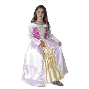 White / Gold Princess Childs Fancy Dress Costume S 122cm Toys & Games