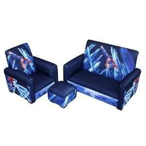 Warner Brothers Superman Power Up Sofa Chair and Ottoman