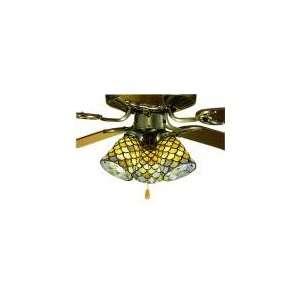 52 Amber Fish Scale Tiffany Ceiling Fan Meyda 27470: Home