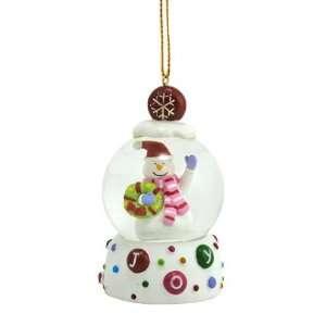 Snowman Joy Snow Globe Ornament