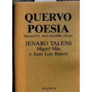 Talens, Monograph 8 Abril Mayo) Miguel Mas, Juan Luis Ramos Books