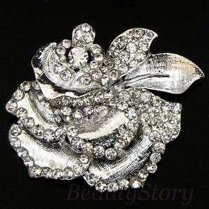ADDL Item  rhinestone crystal flower brooch pin bouquet