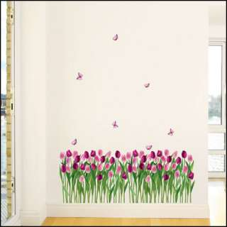 TULIP FLOWER Wall Vinyl Removable Decor Decals PS176