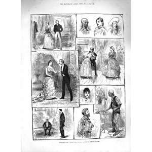 1883 SCENE YOUNG FOLKS WAYS ST. JAMESS THEATRE ACTORS