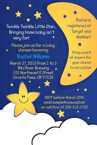 Twinkle Little Star Baby Shower Invitations  UPRINT