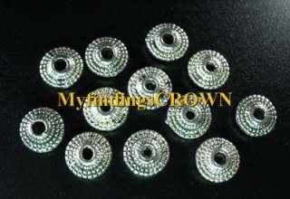 120 pcs Tibetan Silver ornate flat round beads FC391