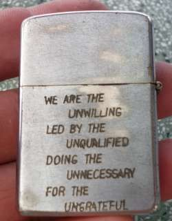 Original Vietnam Zippo 1970 US Army WOW very race , vietnam war , U.S