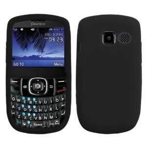 Solid Black Silicone Skin Gel Cover Case For Pantech Link
