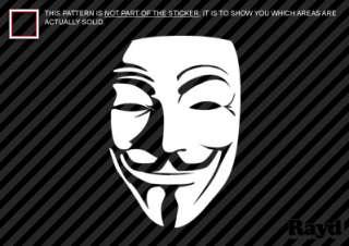 2x) V for Vendetta Mask Sticker Decal Die Cut