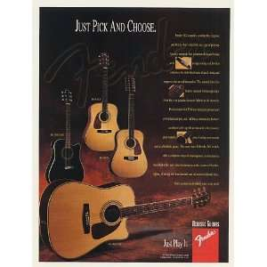 Fender DG Series Acoustic Guitars Print Ad (47883): Home & Kitchen