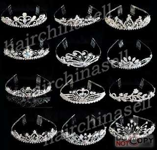 Alloy Rhinestone Bridal Tiara Wedding Crown 12pcs Wholesale