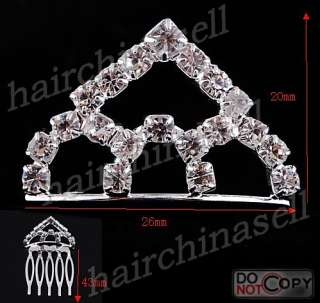 Free Alloy Rhinestone Bridal Tiara Wedding Crown 20pcs