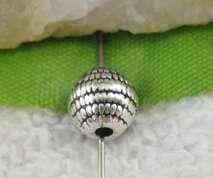 60pcs Tibetan Silver round spacer beads FC10125