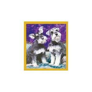 New Magnetic Bookmark Schnauzer Puppies High Quality
