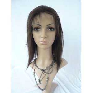 100% Full Lace Yaki Indian Remy Human Hair Straight Wig