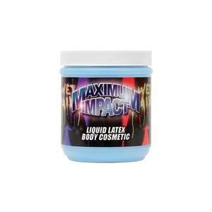 Liquid Latex Body Paint   Flourescent Blue 16 oz