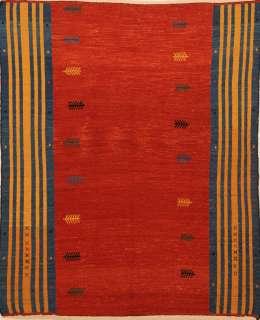 Handmade Flat Weave Kilim Qashqai Persian rug 5 x 6