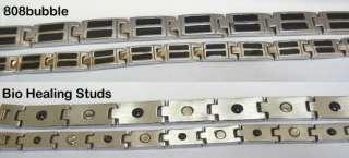COUPLE CUSTOM Matching Black Stainless Steel Magnetic Bracelet