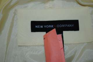 NEW YORK & COMPANY YELLOW TRENCH RAIN COAT JACKET M NEW
