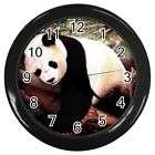 Panda Bear Cute Round Wall Clock Black GIFT DECOR COLL
