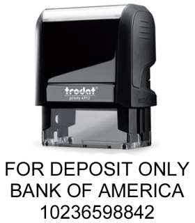 or 3 Line For Deposit Only Endorsement Stamp   Self Inking Rubber