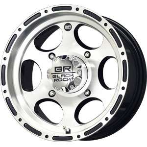 New 14X7 4 137 Black Rock Revo Black Machined Face Wheels/Rims