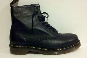 Dr. Martens Doc Men 1460 Black Greasy Classic Boots New With Box