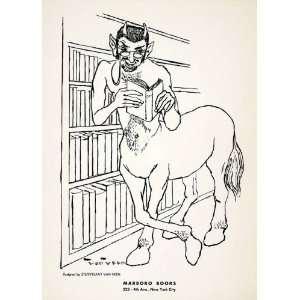 1955 Lithograph Stuyvesant Van Veen Modern Art Centaur