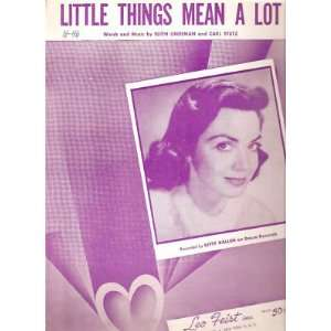 Sheet Music Little Things Mean A Lot Kitty Allen 145