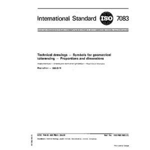 ISO 7083:1983, Technical drawings    Symbols for geometrical