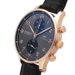IWC Portuguese Chronograph Automatic Mens in 18k Rose Gold IW371482