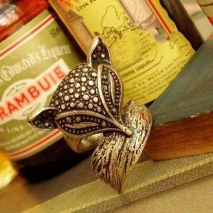 Exquisite Vintage Style Bronze Beautiful Fox Ring New