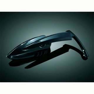 Kuryakyn 1760 Gloss Black Scythe Mirrors For Harley Davidson