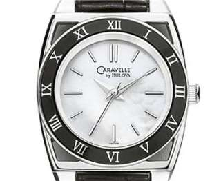 Caravelle by Bulova Womens Mother Of Pearl Dial Strap Watch 45L118