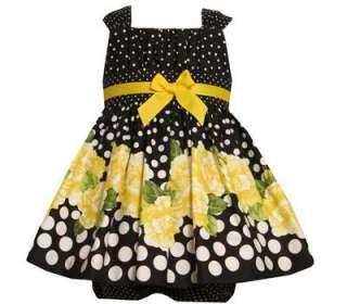 Jean Baby Girls Spring Polka Dot Floral Emma Sun Dress 18M
