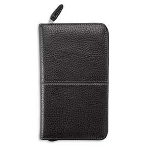Leather Binder, Zippered    POCKET, 83111   Black: Office Products