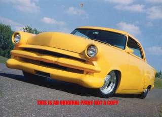 1953 Ford Victoria rat rod car print