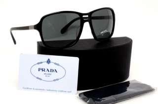 PRADA SPR 01N PR 01NS BRO 1A1 SUNGLASSES BLACK BRO1A1 BRO 1A1