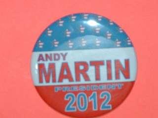 button magnet mirror keychain ANDY MARTIN 2012
