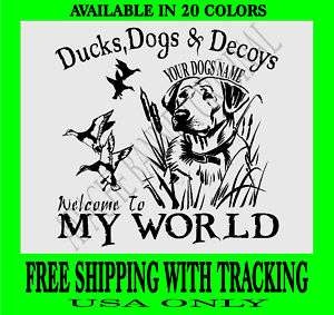 DUCK HUNTING DECAL LAB DOG DEC AL Goose,Dogs 1207YL