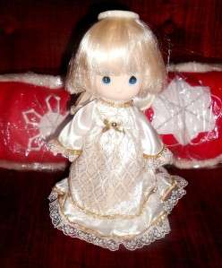 1989 PRECIOUS MOMENTS CHRISTMAS TREE ANGEL TOPPER ENESCO