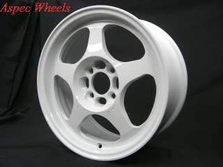ROTA SLIPSTREAM 15x6.5 4X100 +40 WHITE RIMS WHEELS