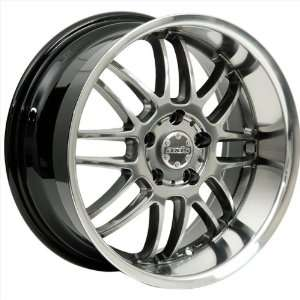 17x8 Axis Apex (Hyper Black w/ Machine Polished Lip) Wheels/Rims 5x100