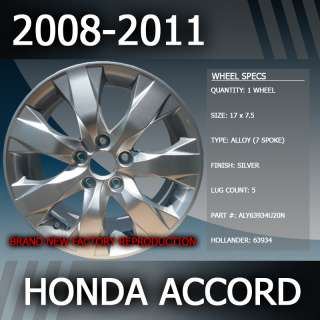 Honda Accord OEM 17 Replacement Wheel 08 09 2010 2011
