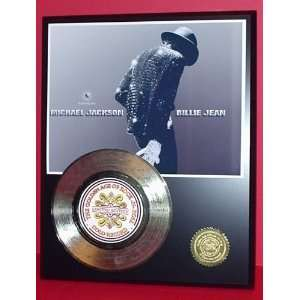 Michael Jackson Billie Jean 24kt Gold 45 Record LTD Edition Display